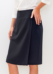 HOA360B YOKE SKIRT FALSE WRAP