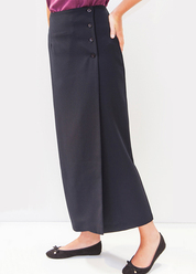 HOA364 BUTTON WRAP SKIRT